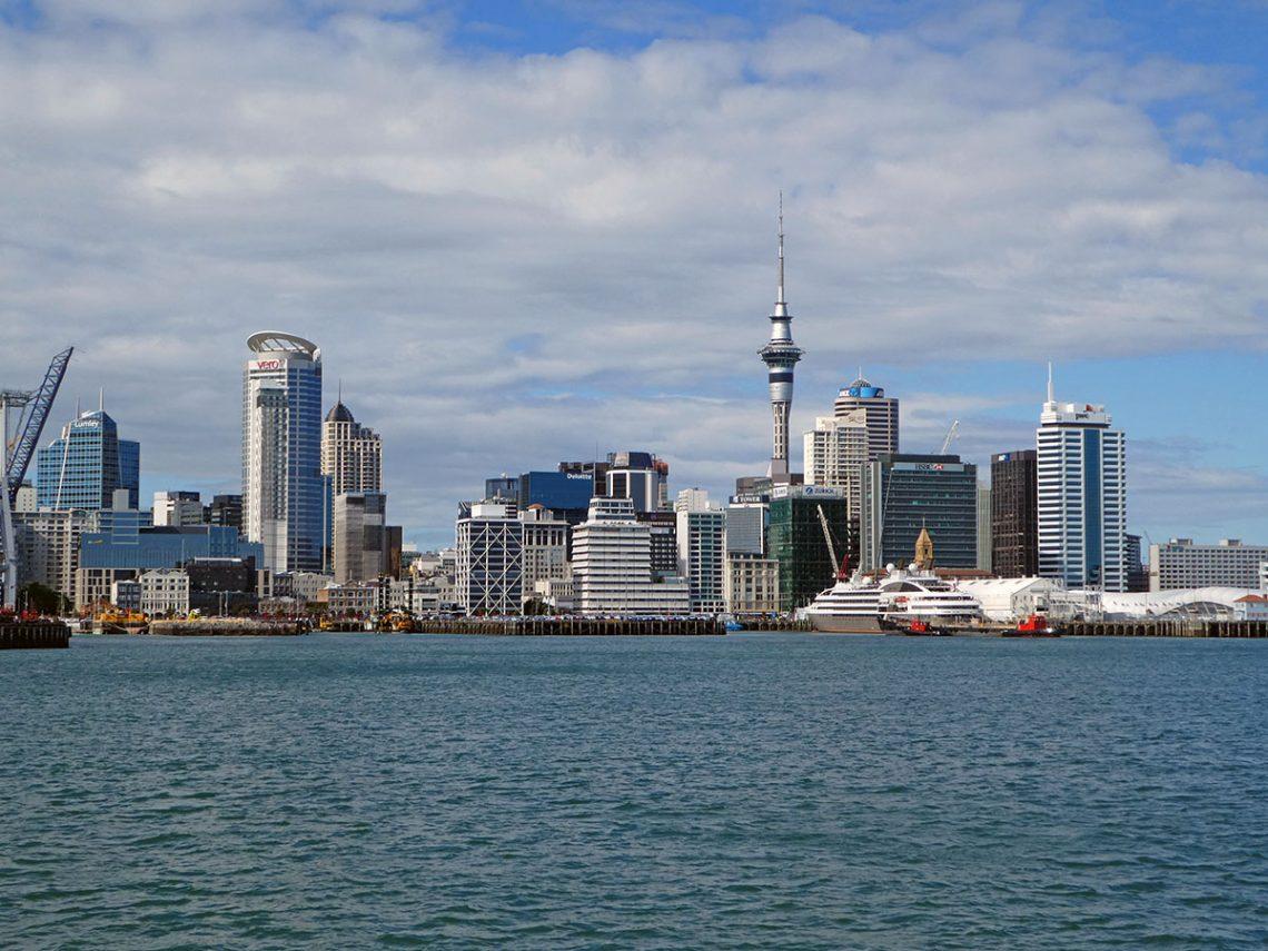 aankomst in Auckland