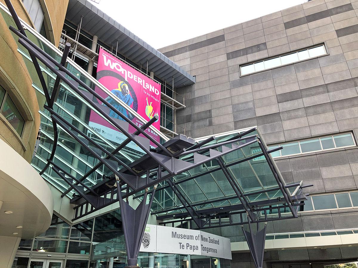Het Te Papa Museum in Wellington