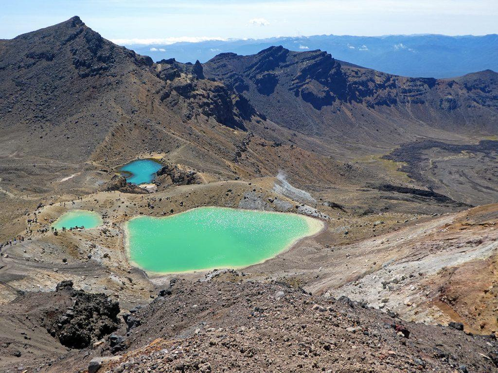 de Emerald Lakes op de Tongariro Crossing in Nieuw-Zeeland