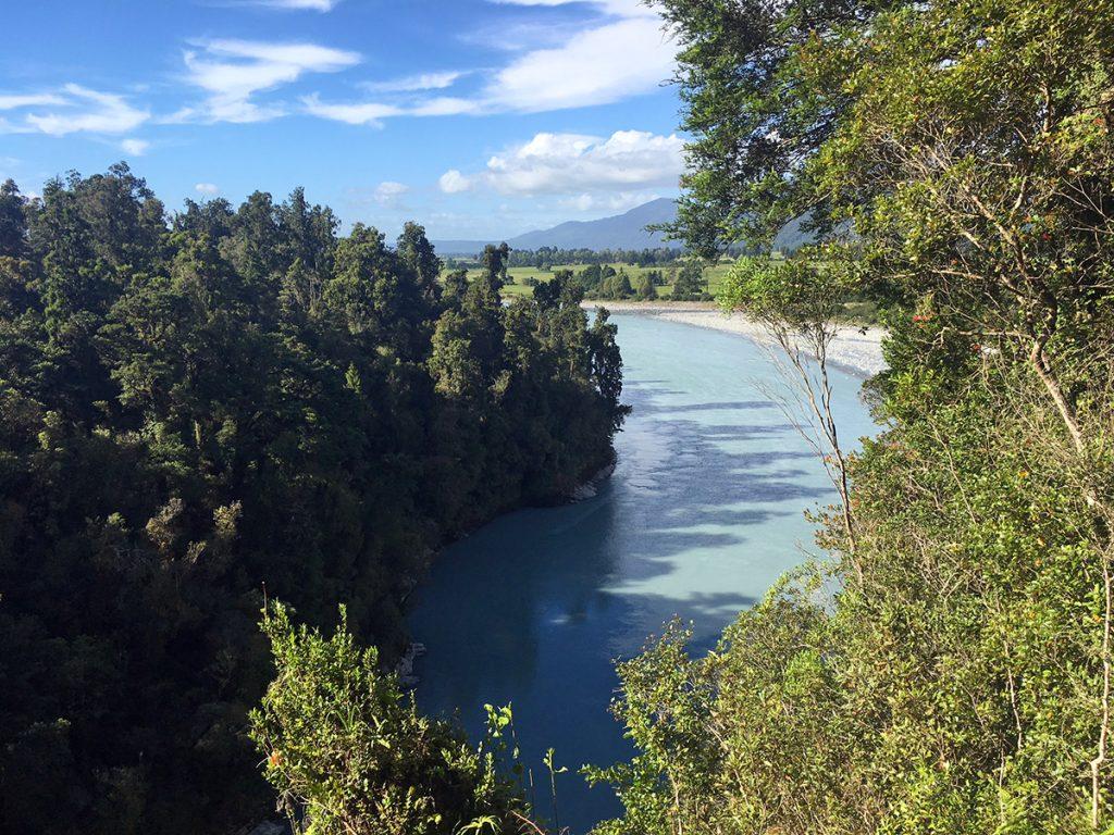 Mooiste plekken in nieuw-Zeeland - de Hokitika Gorge