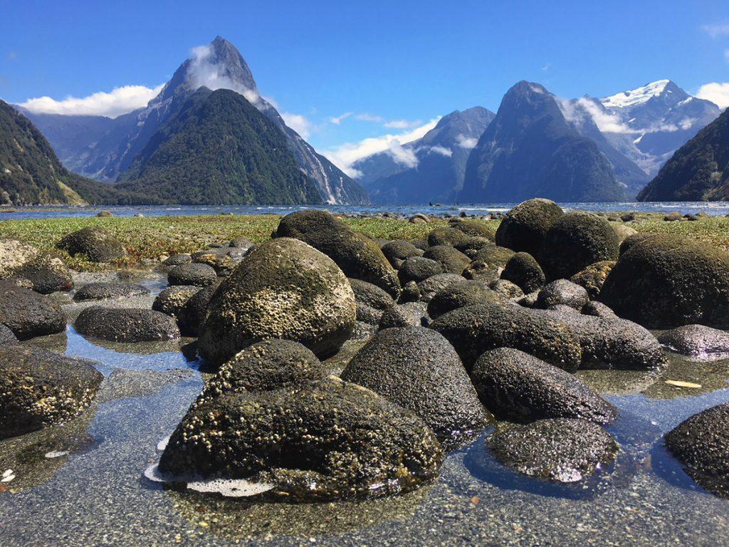 Mitre Peak in Milford Sound, Fiordland National Park
