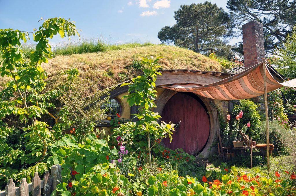 Hobbiton movie set Nieuw-Zeeland