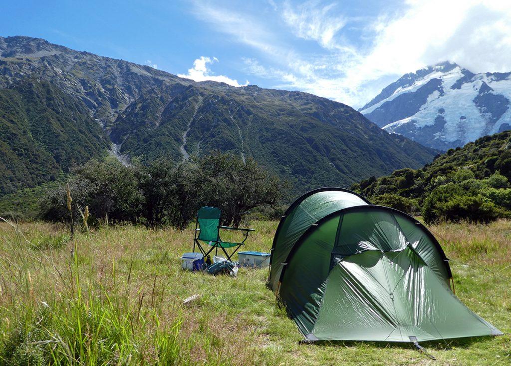 kamperen op White Horse Hill Campsite