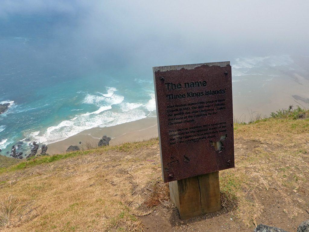 Uitzicht over de oceaan bij Cape Reinga