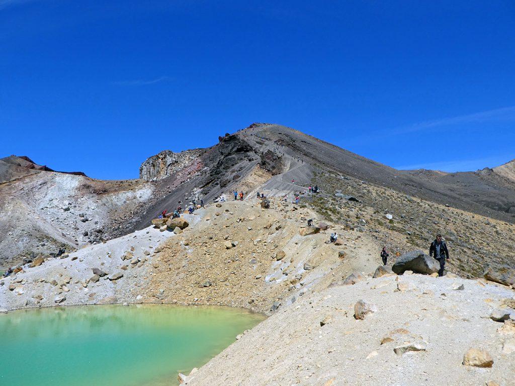 De Emerald Lakes in Tongariro National Park