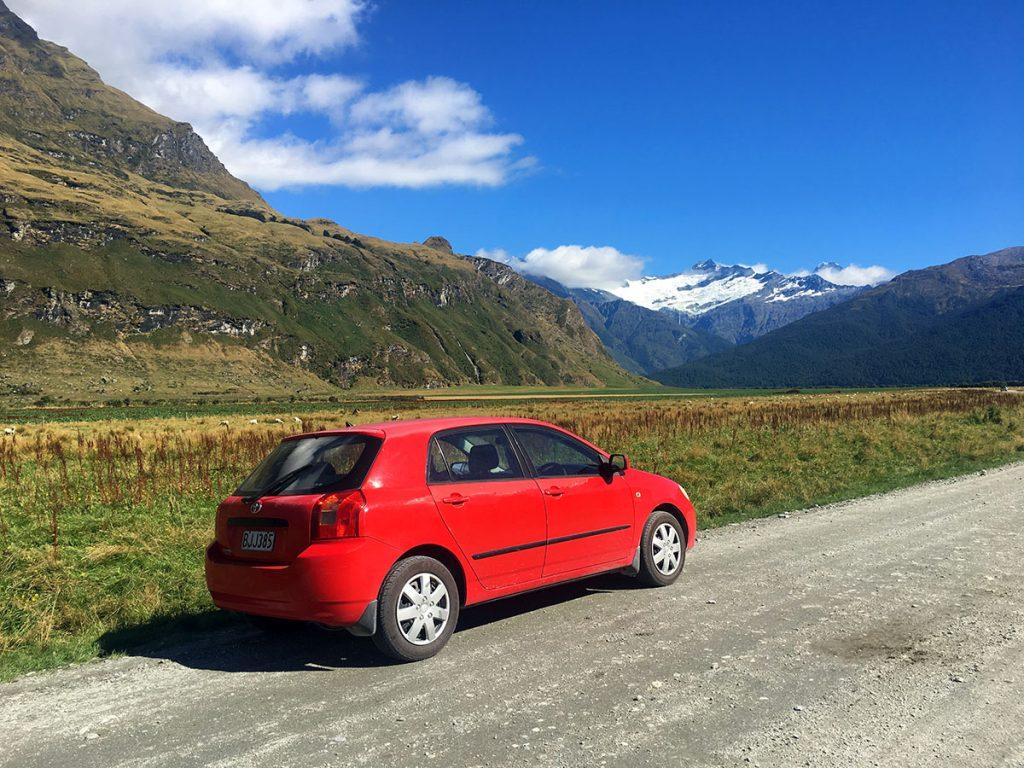Autorijden in Nieuw-Zeeland op onverharde wegen